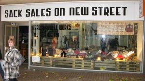 Sack Sales on New Street