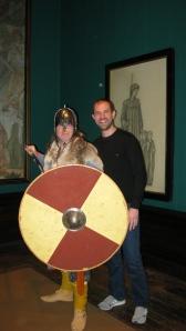 David Brian Smith and a Saxon Warrior